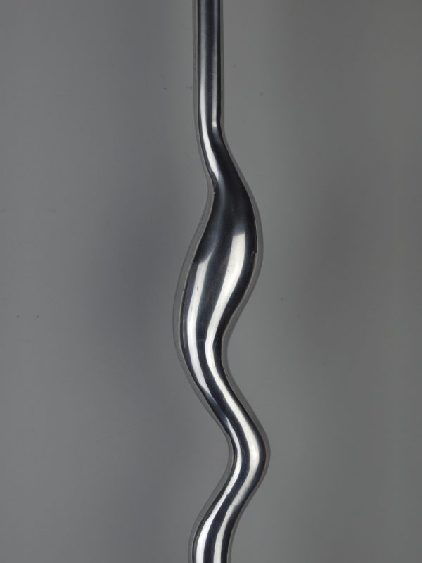 Squiggle Spindle - Bright Aluminium