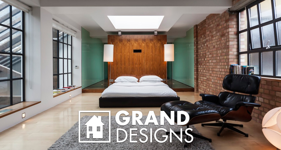 Interior project the violin factory grand designs at for Grand bedroom designs