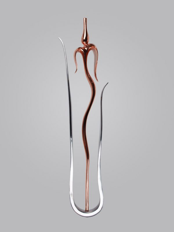Tulip 1 and Leaf Spindle - Bronze & Aluminium