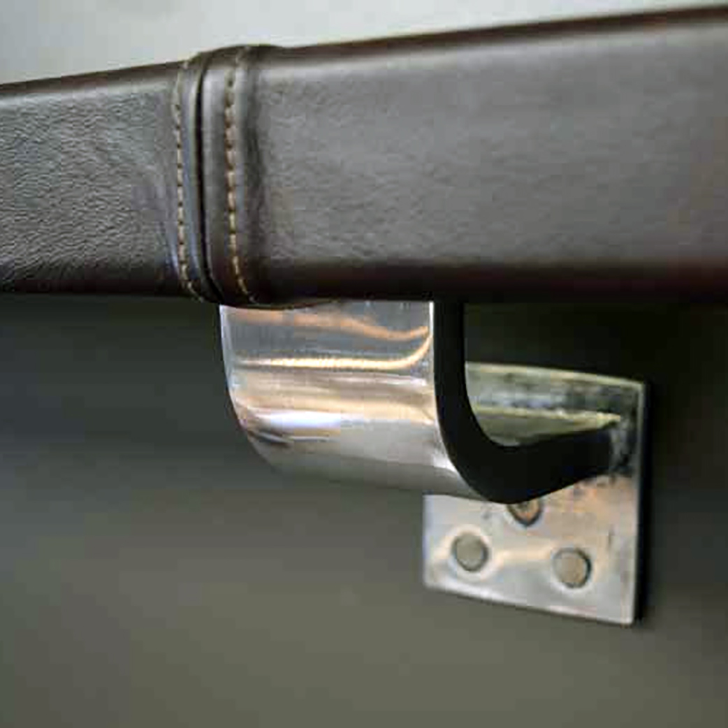 Arc Bracket with Leather Handrail