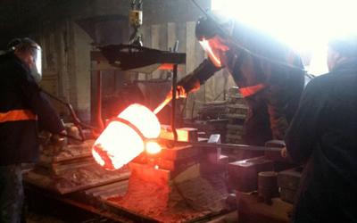 casting balustrades in workshop
