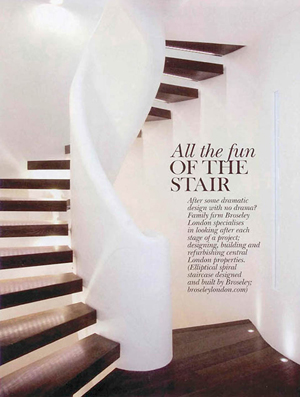 chelsea-staircase-country-town-house-mag1 Zigzag Staircase in Country and Town House Magazine