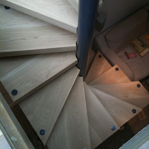 Chiswick staicase at zigzag design studio beautiful for Square spiral staircase