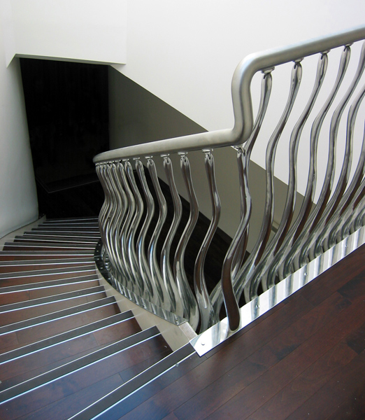 2. Wave Sculptural Stair Balustrade