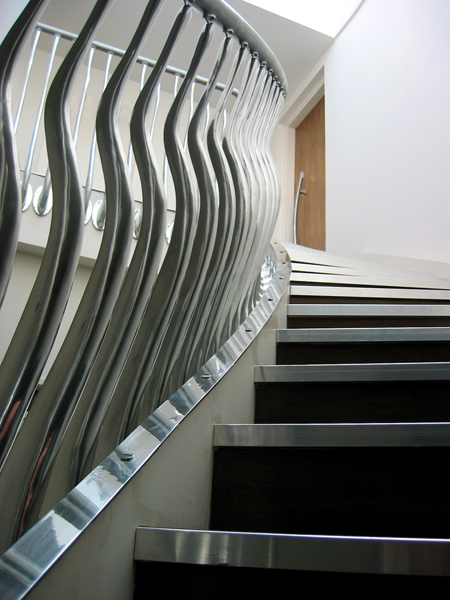 1. Wave Sculptural Stair Balustrade