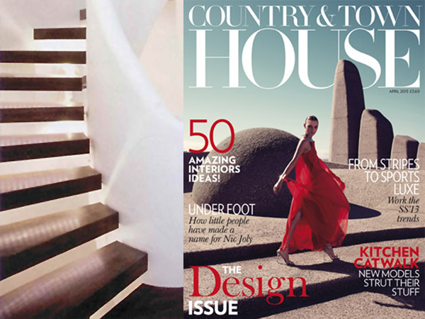 Zigzag Staircase in Country and Town House Magazine