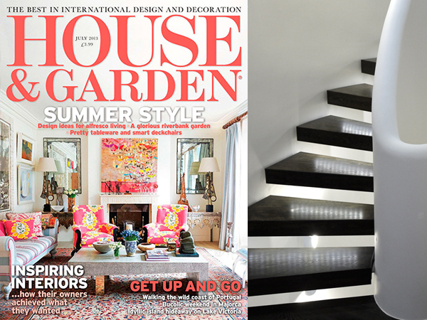 Zigzag's Chelsea Staircase in Country and Garden Magazine