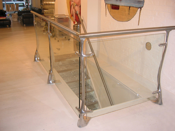 steel and glass balustrade
