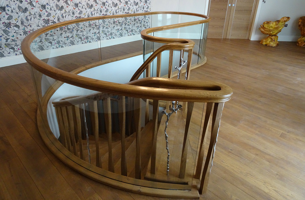 kidney-3-1 Salisbury: Timber Kidney Staircase