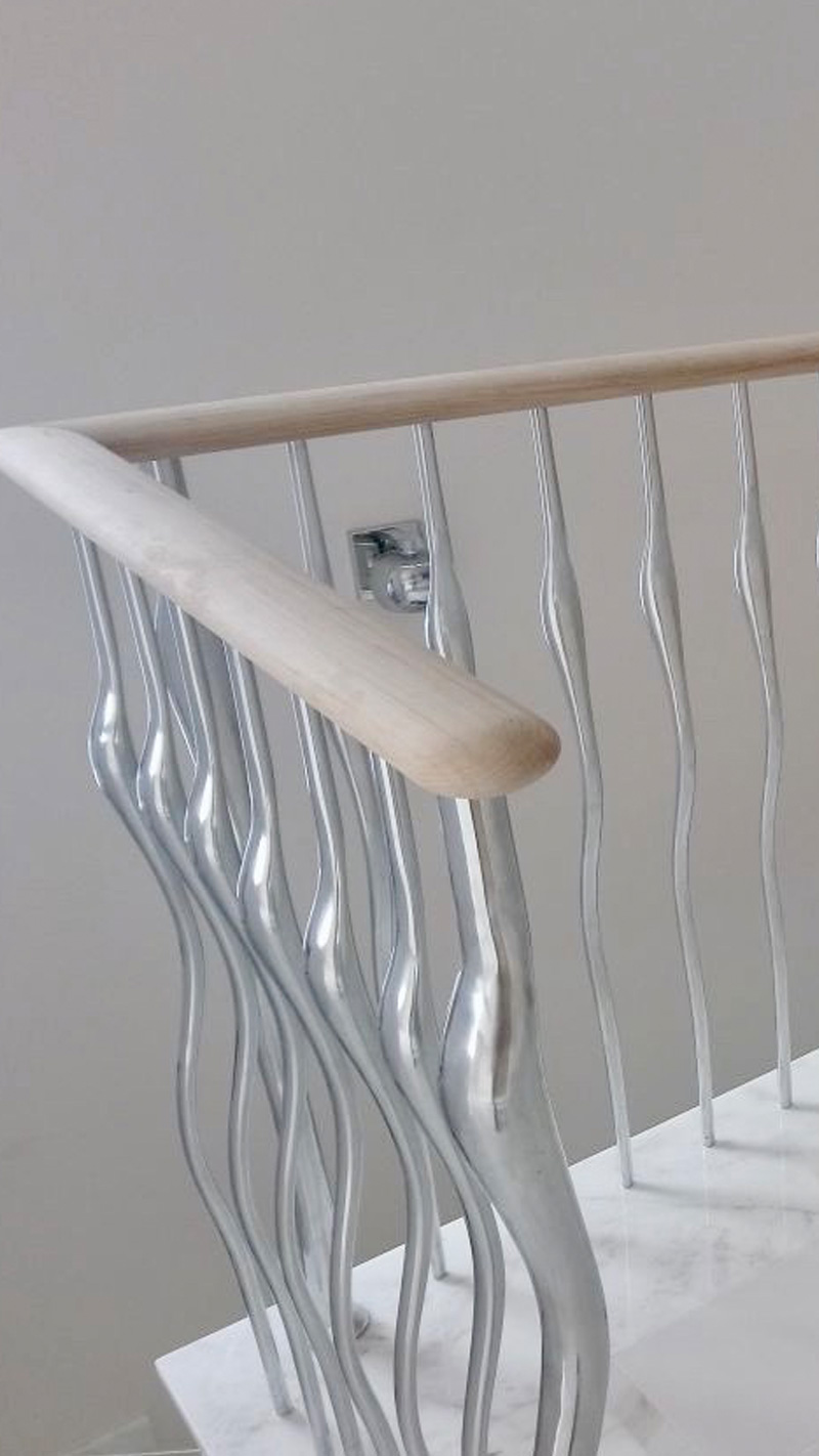 malaga2 Wisp Balustrade Satin Polish