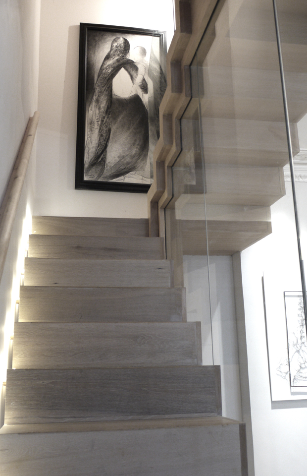 St James Gardens Floating Oak Staircase At Zigzag Design