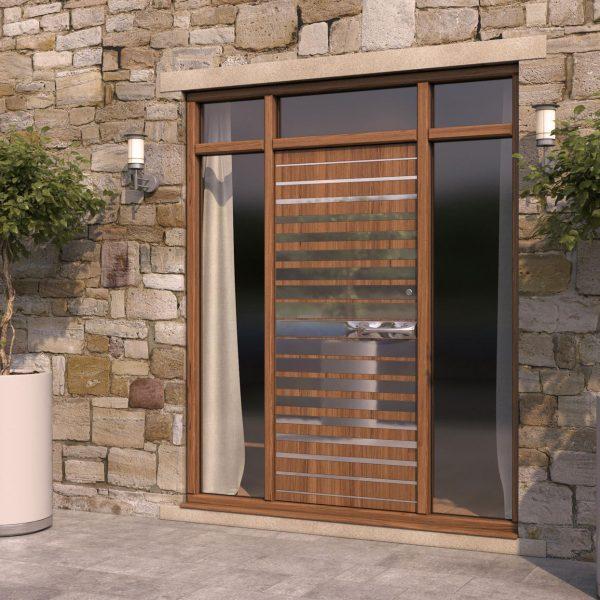 Strata 1 Wood Steel Pattern Door