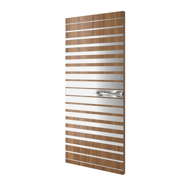 Strata 1 Wood Steel Pattern Door