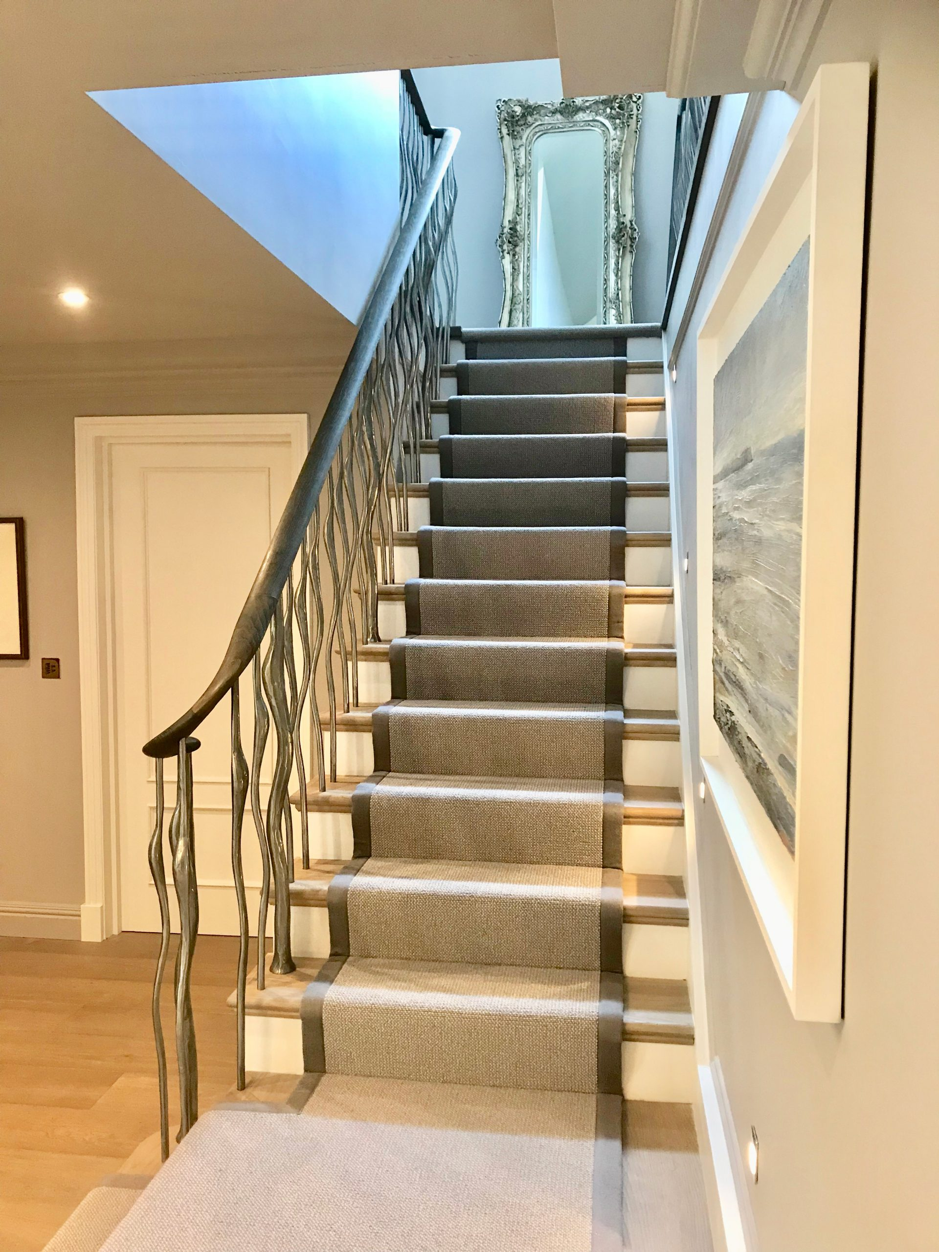 Textured Wisp Balustrade – Bright Polish