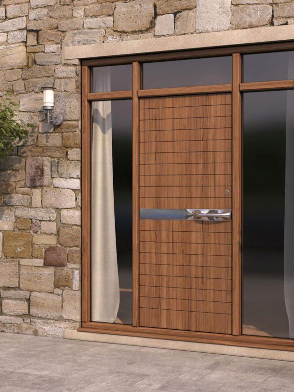 Wood Groove Pattern Door